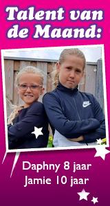 Daphny en Jamie de Heer: Daphny 8 jaar Jamie 10 jaar
